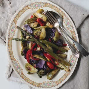 Vegetable Salad Recipe 300x300 Pan Roasted Asparagus Almondine