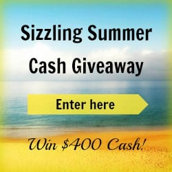 $400 Cash Giveaway | www.diethood.com | #giveaway #cash #summer