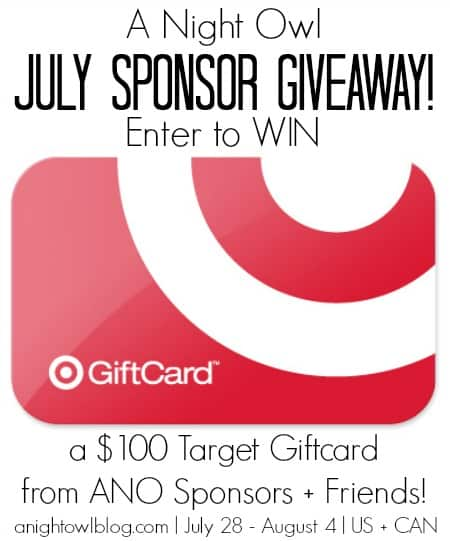 ANO July Sponsor Giveaway Zucchini Goat Cheese Pizza + Giveaway