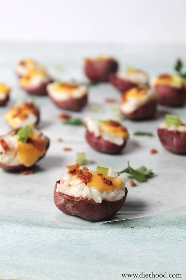 Baked Potato Bites Diethood Loaded Baked Potato Bites