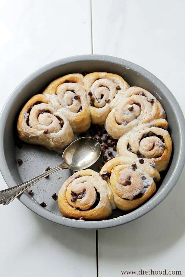 Chocolate Cinnamon Vanilla Diethood Chocolate Cinnamon Rolls