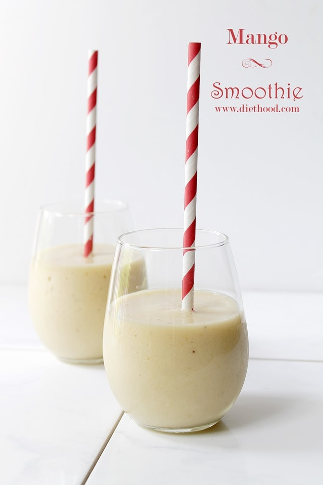 Mango Banana Smoothie | www.diethood.com | #smoothierecipe #mango #smoothie
