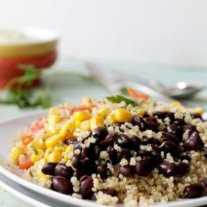 Southwestern Quinoa Salad with Creamy Avocado Dressing