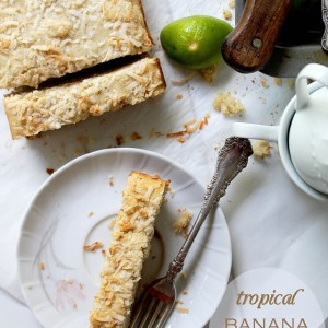 Tropical Banana Pound Cake + Giveaway