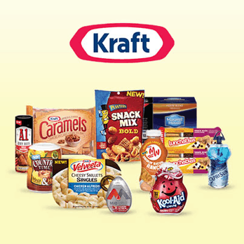 Kraft Logo with a variety of Kraft products