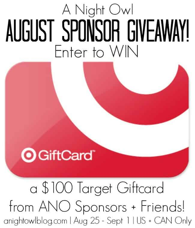 ANO August Sponsor Giveaway Garlic Butter Spinach and Pasta + Giveaway