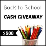 $500 Back To School Cash Giveaway
