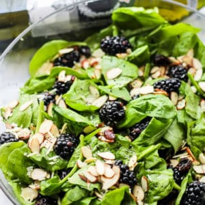 Spinach Salad with Blackberries and Lemon Poppyseed Dressing