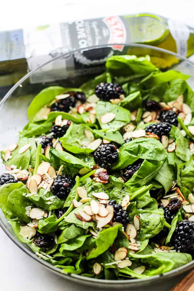 Spinach Salad with Blackberries and Nuts