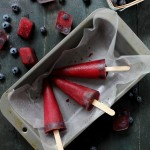 Blueberry Pomegranate Hibiscus Pops #PerfectTemp