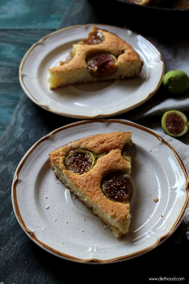 Fig and Lemon Cake | www.diethood.com | Sweet and delicious yogurt cake made with lemon and fresh figs. | #cake #recipe #dessert #figs