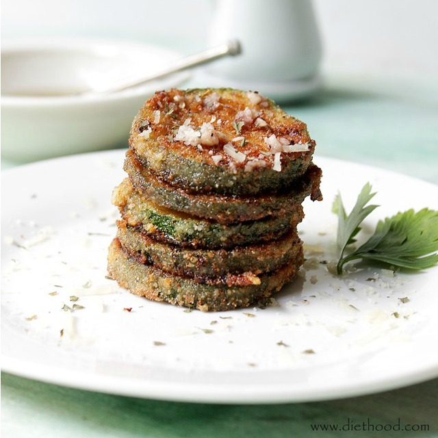 Fried Zucchini Diethood Recipes Garlicky & Cheesy Quinoa Zucchini Fritters