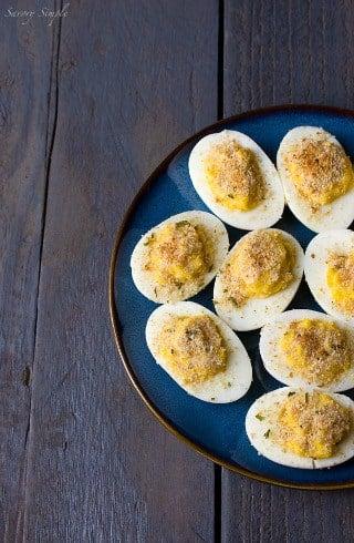 Horseradish Deviled Eggs from Savory Simple