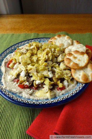 Layered Summer Vegge Appetizer from Farm Fresh Feasts
