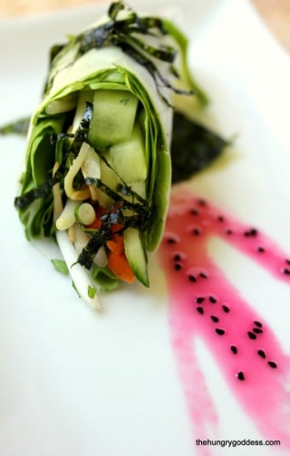 Raw Vietnamese Spring Rolls from The Hungry Goddess