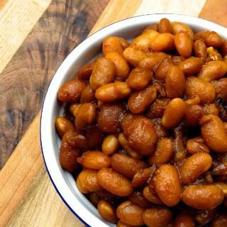 Slow Cooker Vegetarian Boston Baked Beans from The Lemon Bowl