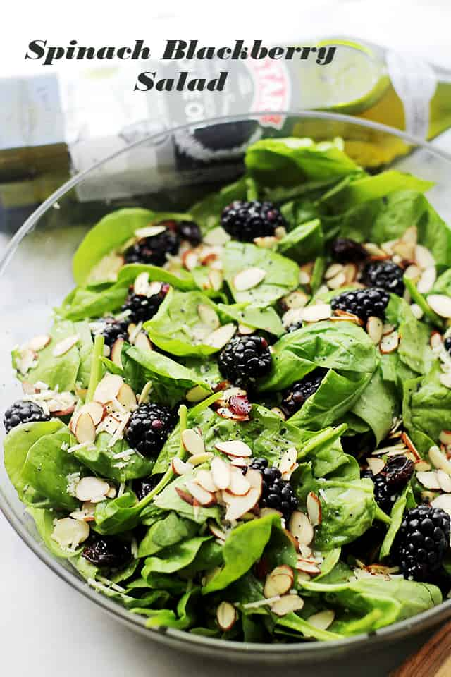 Spinach Blackberries Salad