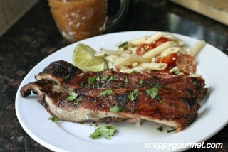Tropical-Pineapple-Honey-BBQ-Ribs from Snappy Gourmet