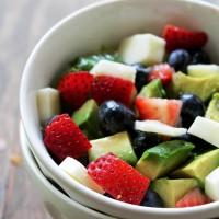 Very Berry Avocado Salad | www.diethood.com | Sweet and refreshing Very Berry Avocado Salad combined to make a healthy and delicious summer treat. | #recipe #berries #salad #avocado