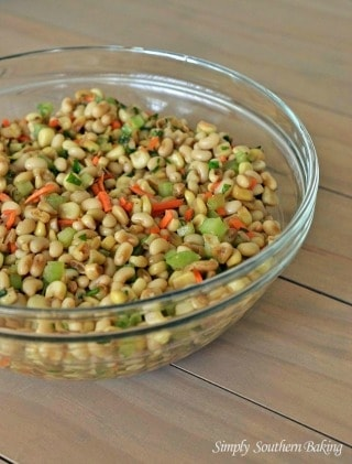 White-Acre-Pea-and-Corn-Salad from Simply Southern Baking