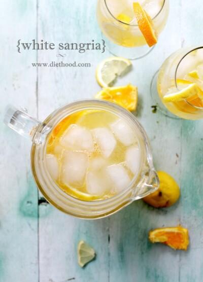 White Sangria Recipe | www.diethood.com | #sangria #recipe