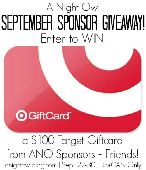 A Night Owl September Giveaway advertisement