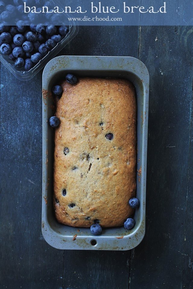 Banana Blue Bread Diethood Blueberry Banana Bread