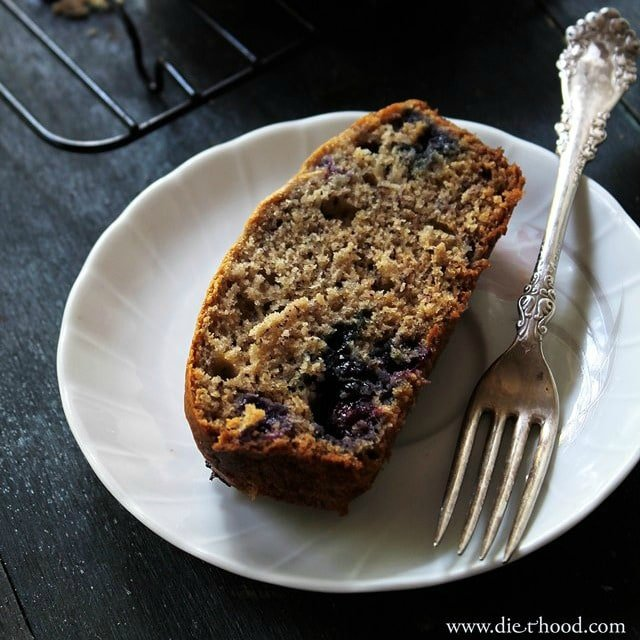 Banana Bread with Blueberries Diethood Recipe Blueberry Banana Bread