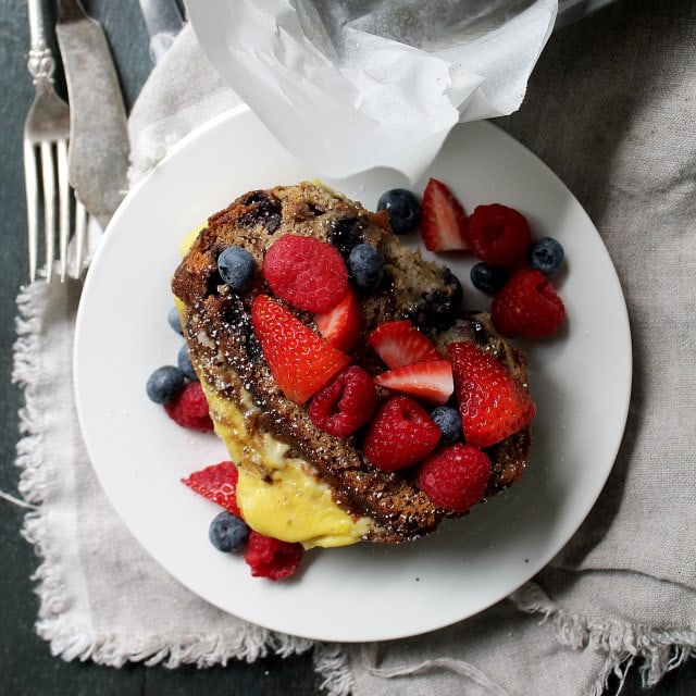 French Toast with Ricotta Diethood Recipe Banana Bread Stuffed French Toast