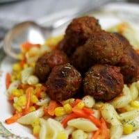 Meatballs and Pasta | www.diethood.com #shop