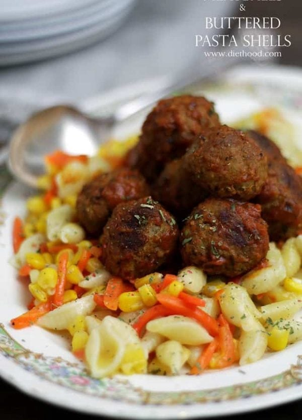Meatballs and Pasta | www.diethood.com #shop