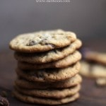 Oatmeal Chocolate-Covered Raisin Cookies