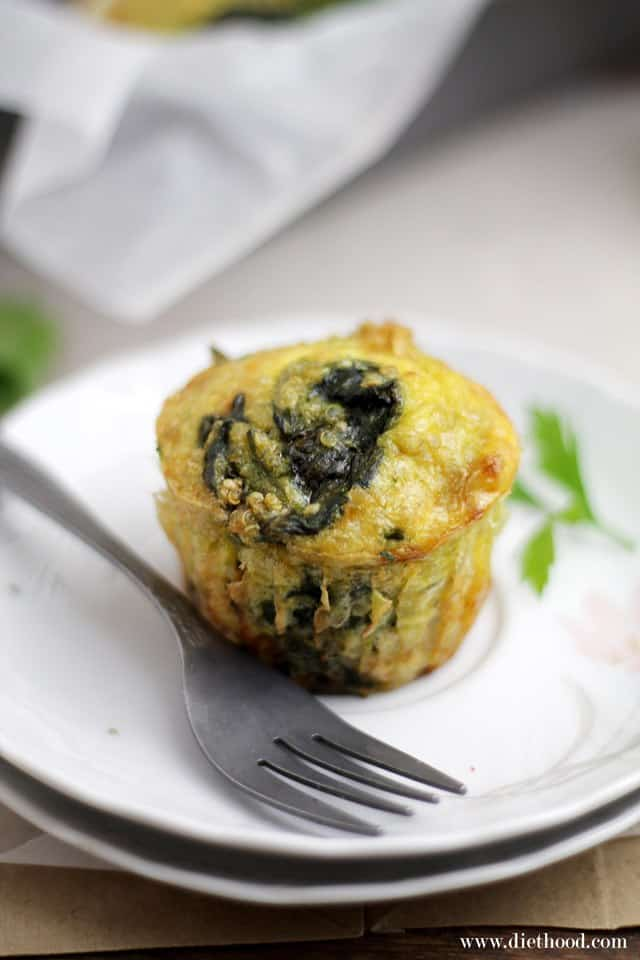 Quiche Muffins Diethood Quinoa Quiche Muffins with Spinach and Cheese {Giveaway}