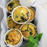Crustless Quiche Muffins with Spinach and Cheese