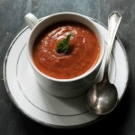 Roasted Tomato Soup | www.diethood.com | A delicious Roasted Tomato Soup made with garden fresh tomatoes, garlic, onions, and basil. | #recipe #tomatosoup #soup