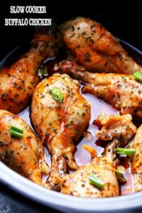 Slow Cooker Buffalo Chicken Recipe | Crockpot Chicken Drumsticks