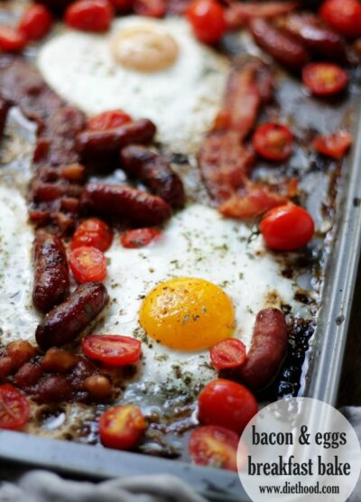 Bacon and Eggs Breakfast Bake | www.diethood.com