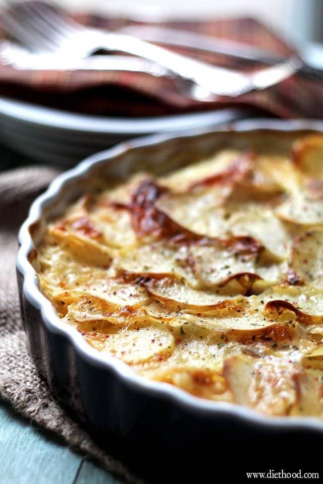 Loaded Baked Potato Casserole   www.diethood.com