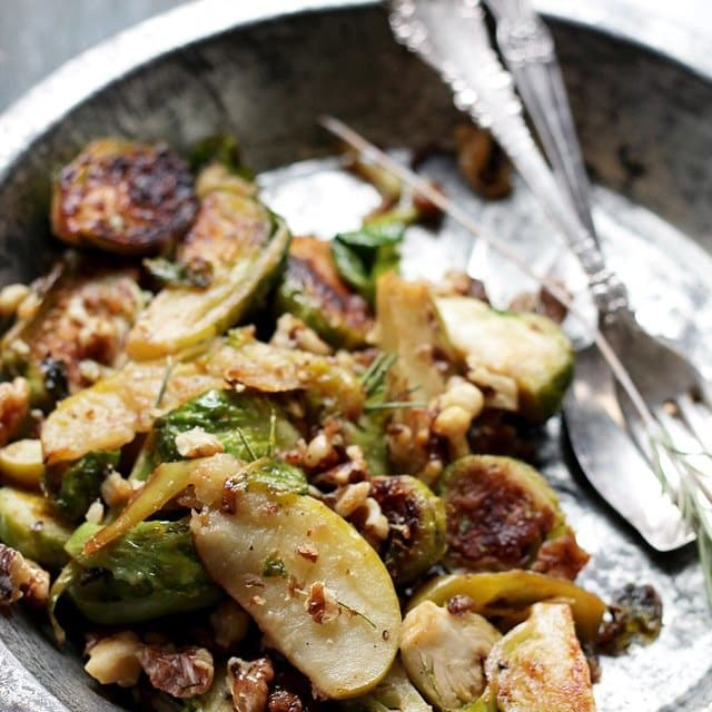 and Apple Salad with Walnuts Diethood Recipe Brussels Sprouts Salad ...