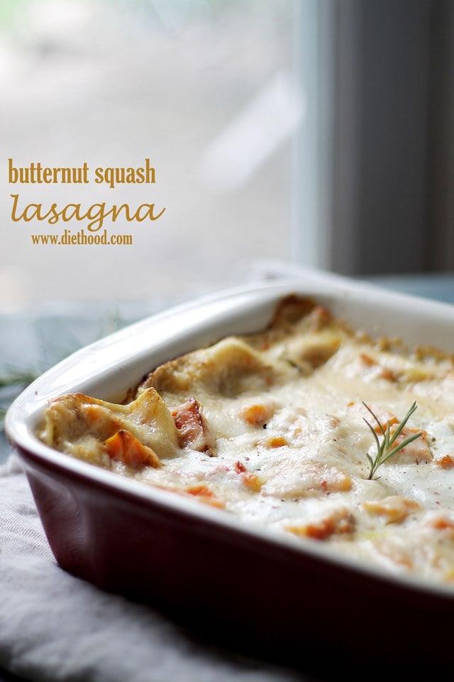 Butternut Squash Lasagna | www.diethood.com
