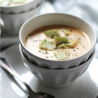 Apple and Cheddar Soup | www.diethood.com