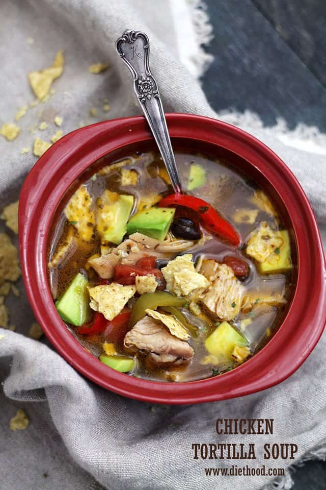 Chicken Soup Tortilla Diethood Chicken Tortilla Soup