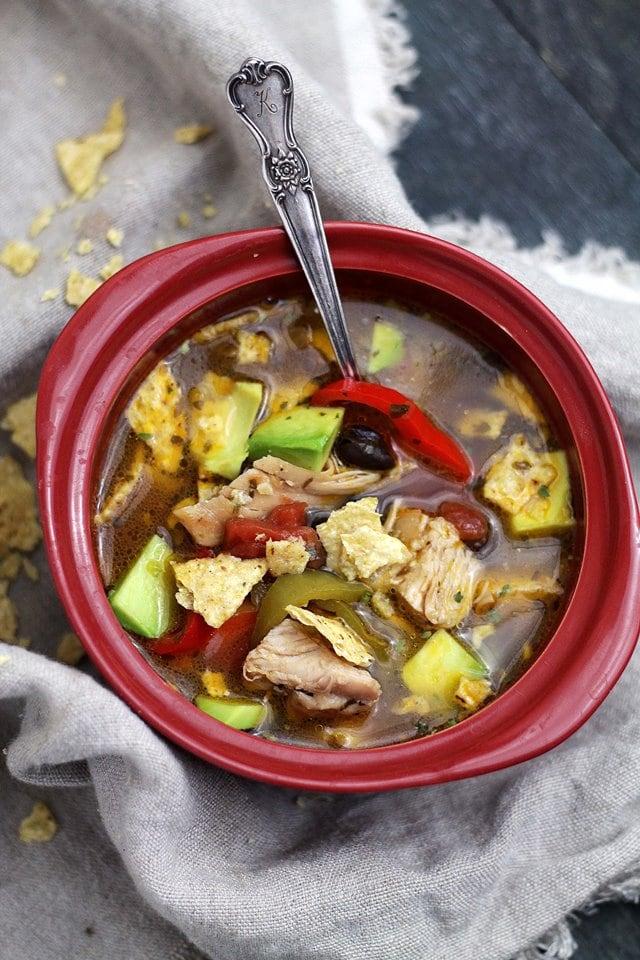 Chicken Tortilla Soup | www.diethood.com