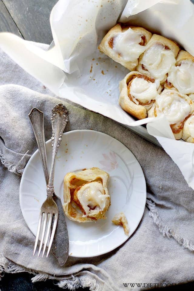 Cinnamon Rolls with Pumpkin Filling Diethood Pumpkin Pie Cinnamon Rolls