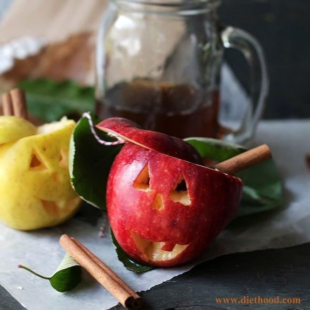 Jack O Lantern Apple Cup Diethood Recipe Spiked Apple Cider
