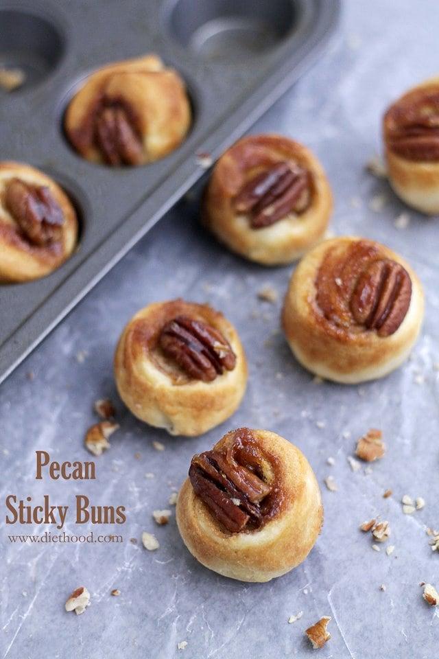 Pecan Sticky Buns | www.diethood.com