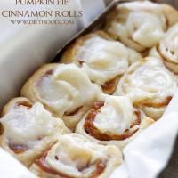 Pumpkin Pie Cinnamon Rolls | www.diethood.com