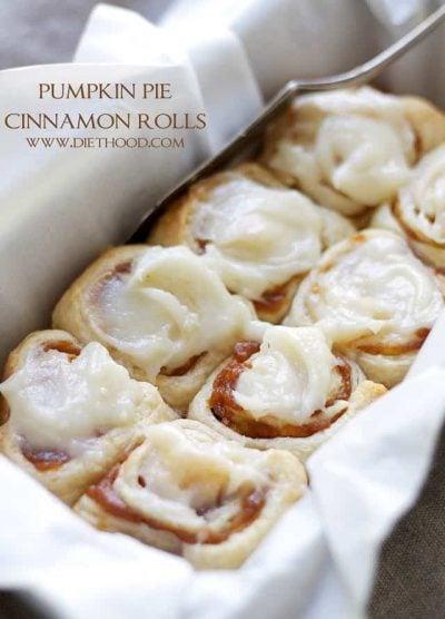 Pumpkin Pie Cinnamon Rolls   www.diethood.com