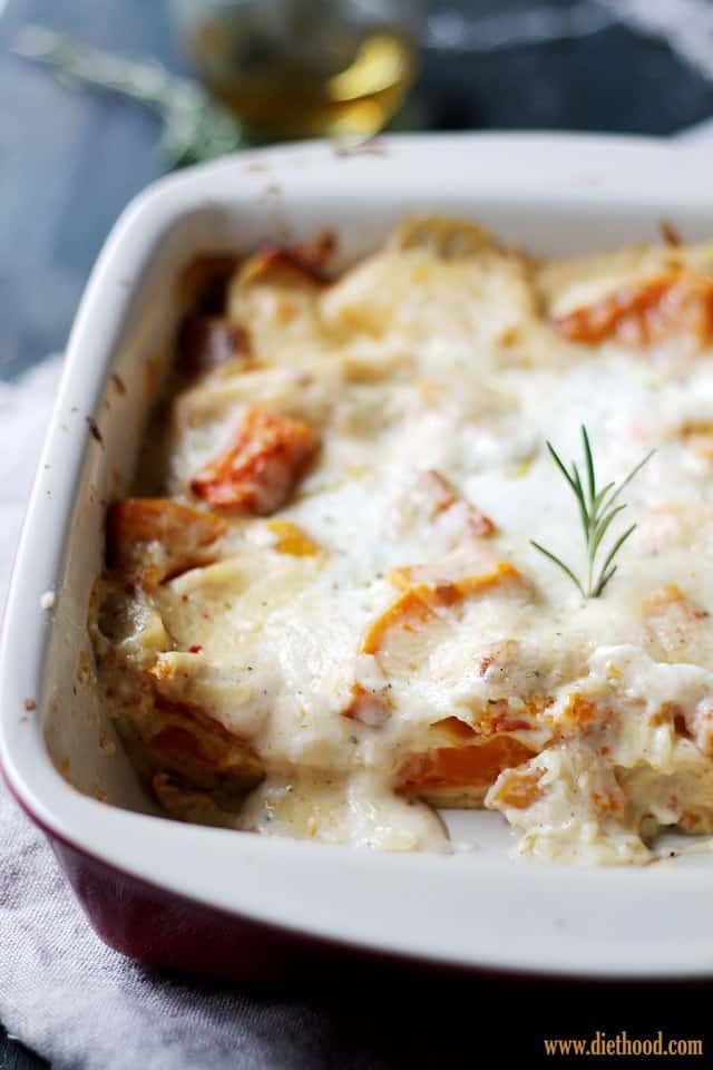 Squash Pasta Diethood Roasted Butternut Squash Lasagna