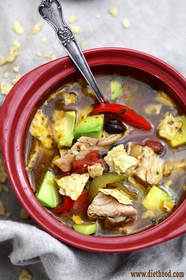 Chicken Tortilla Soup | www.diethood.com